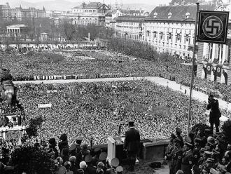 Hitler Speaking in the Heldenplatz
