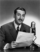 Bob Trout at CBS microphone