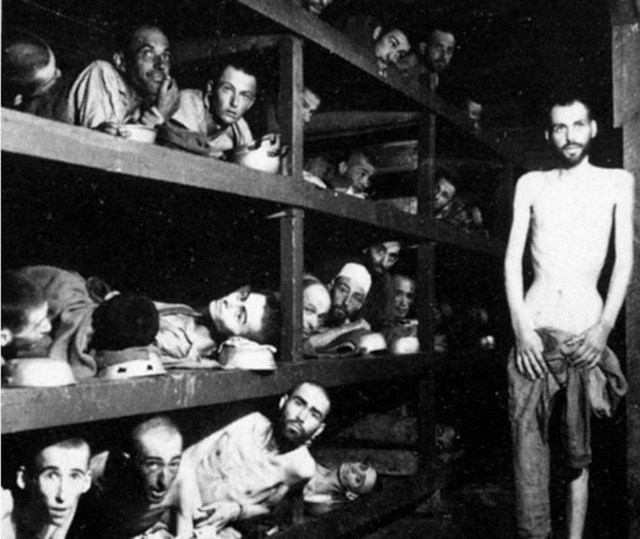 Prisoners in Buchenwald Death Camp