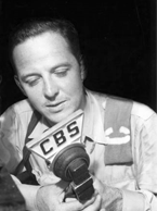 John Charles Daly at CBS microphone