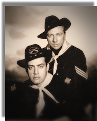 Raymond Burr and Vic Perrin